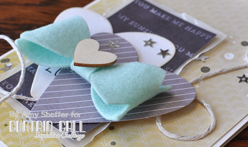 felt bow tie template - pickled paper designs curtain call inspiration challenge