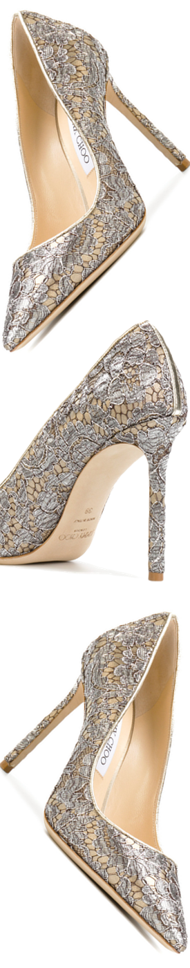 Jimmy Choo Romy 100 Pumps in Gold/Silver