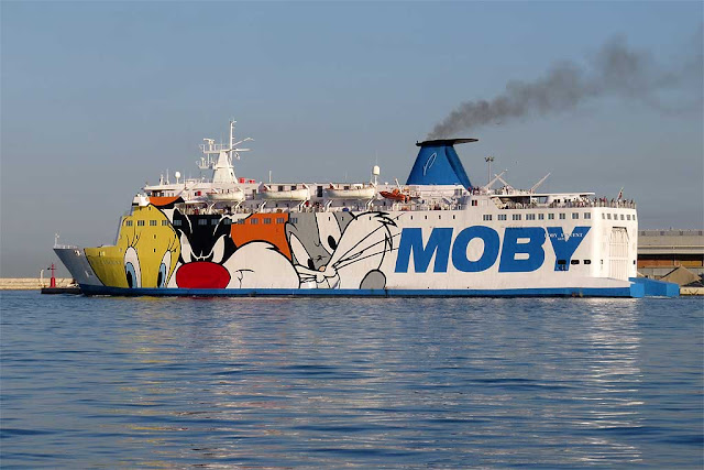 Moby Vincent ferry, IMO 7360605, port of Livorno