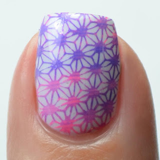 summer gradient nail art