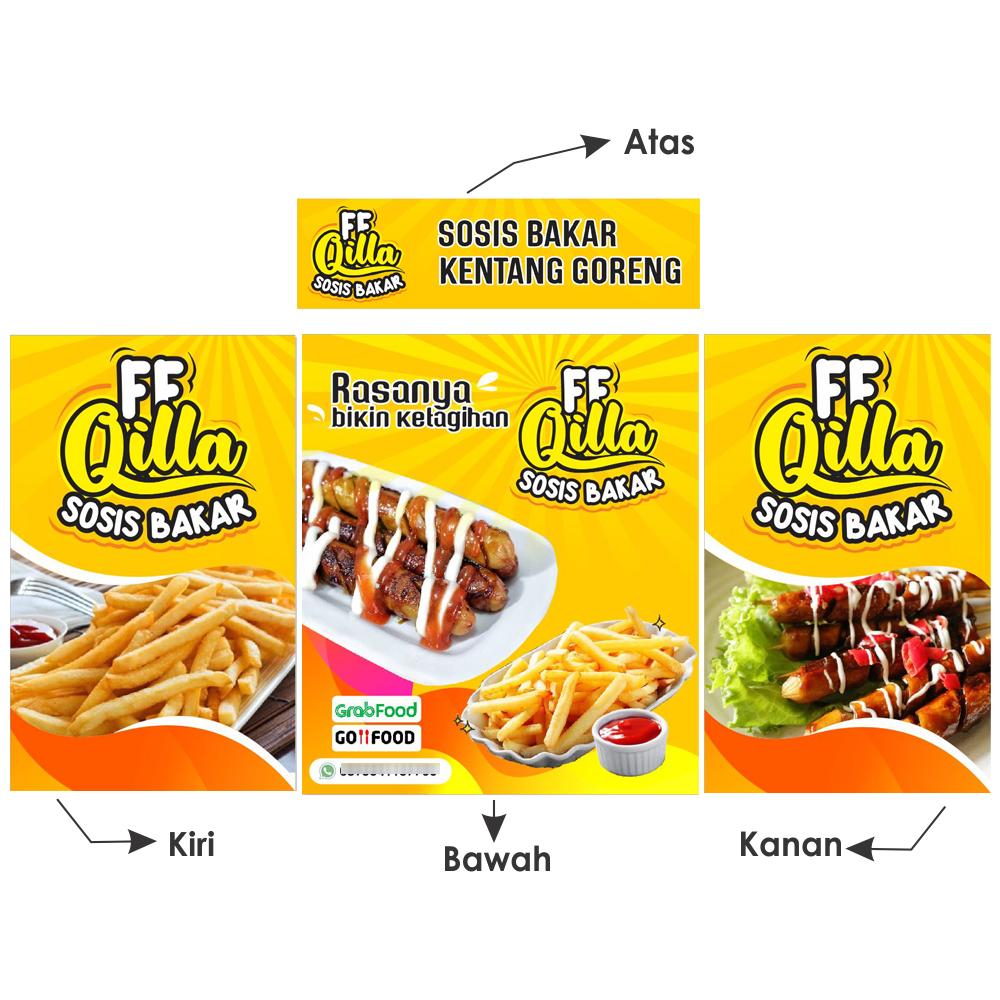 contoh desain banner booth untuk jualan sosis bakar tips mendesain contoh desain banner booth untuk jualan