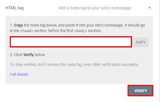 HTML Tag Verify ownership