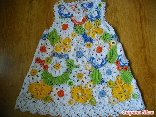 Vestidos de Bebe a Crochet Ruso