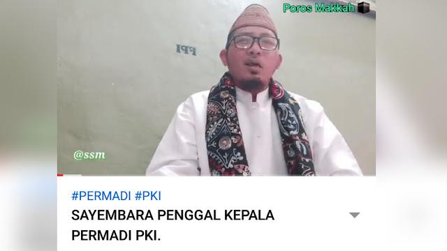 Beredar Video Pria Mengajak Umat Islam Memenggal Kepala Permadi Arya