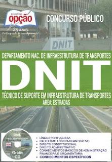 Apostila do Concurso Dnit 2017 - técnico de suporte em infraestrutura de transportes.