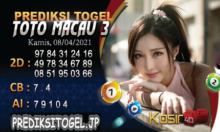 Prediksi Kasir4D Togel Macau Kamis 08 April 2021