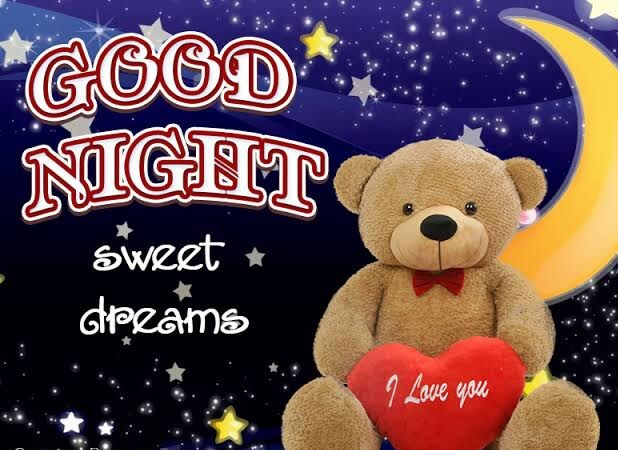 Cute good night image with love