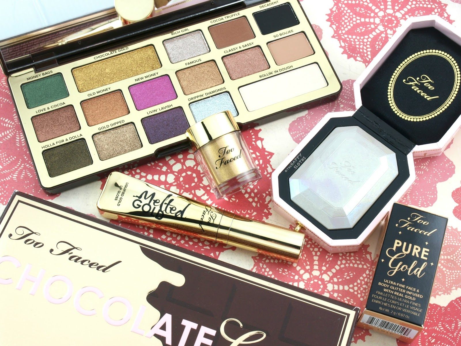 Too Faced Chocolate Gold Collection: Review and Swatches
