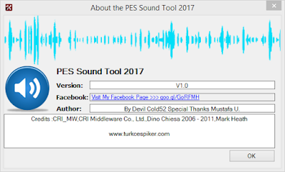 PES 2017 Sound Tool By Devil Cold52