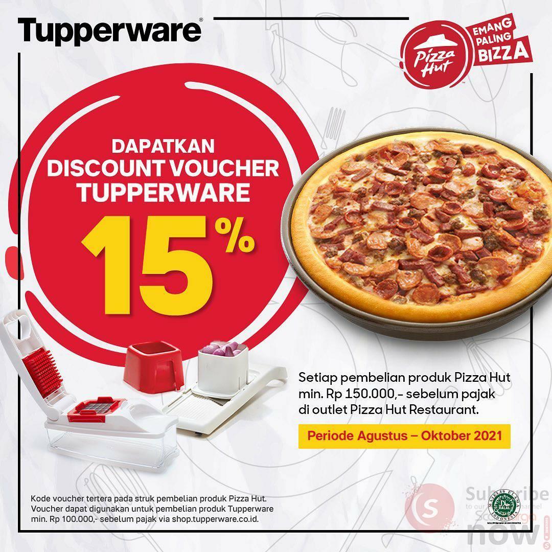 Promo PIZZA HUT DISKON 15% dengan Kartu Member TUPPERWARE* 2