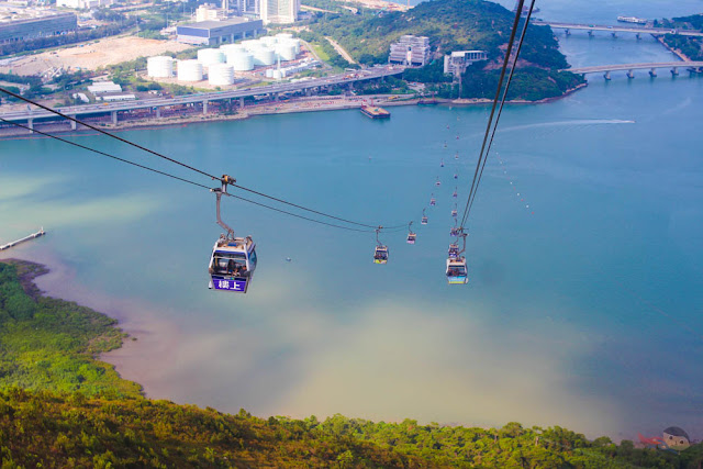 Cable Car to Ngong Ping Village, Hong Kong