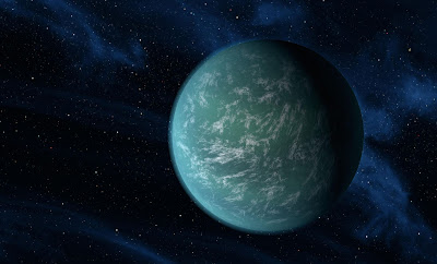 super earth in space