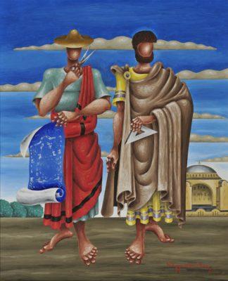 «Ανθέμιος και Ισίδωρος» Πίνακας του Νίκου Εγγονόπουλου. NationalGallery...