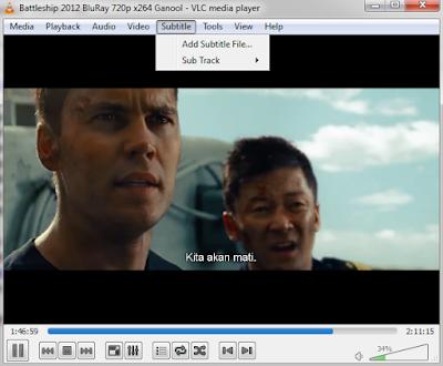 Cara Menampilkan Subtitle Film