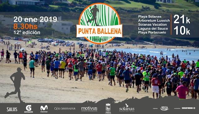 21k y 10k Trail run Punta Ballena (Solanas - Maldonado, 20/ene/2019)