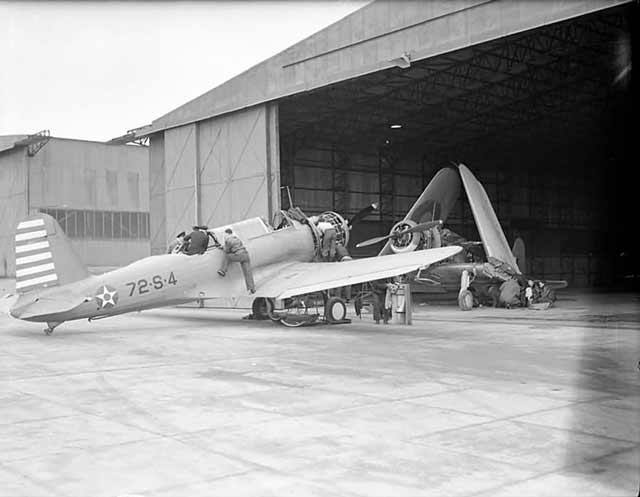 SB2U Vindicator in England ca. 4 April 1942 worldwartwo.filminspector.com