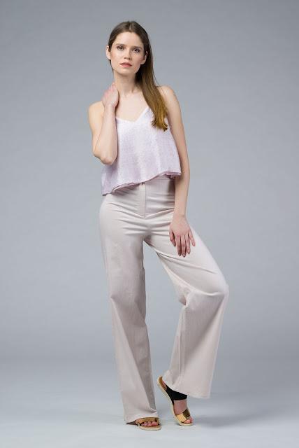 MARIYAH: Cami Silk Petal Pink Top