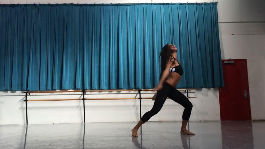 modella ballerina calzedonia testimonial spot 2016