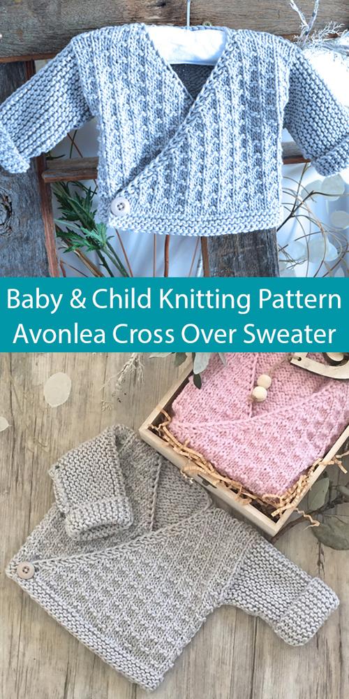 Avonlea Cross Over Baby Sweater - Knitting Pattern