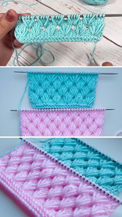 Pistachio Knitting Stitch - Easy Tutorial