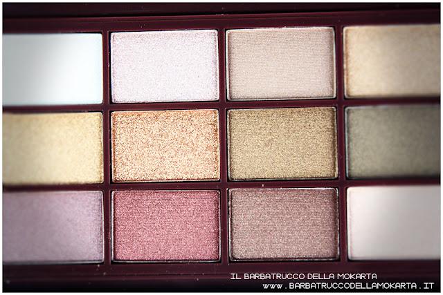 golden Bar makeup revolution palette choccolate recensione