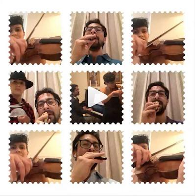 Pianist Tom Poster and violinist Elena Urioste on Instagram