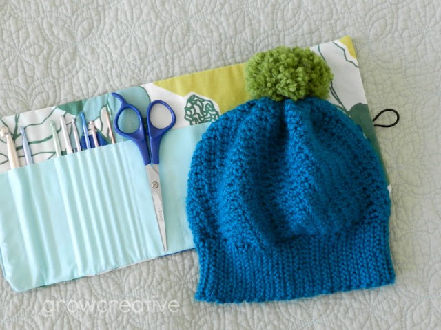 crochet beanie:growcreative