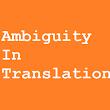ambiguity in translation There can be no room for ambiguity in our stance on the defense of human rights no puede haber lugar para ambigüedades sobre nuestra posición con respecto a la defensa de los derechos humanos.