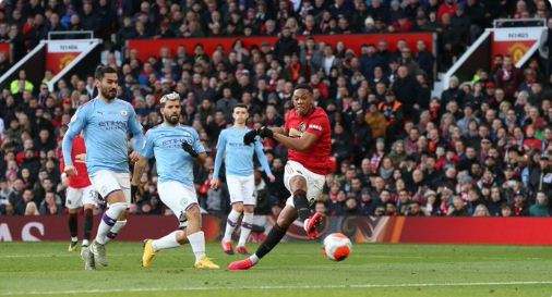 HT: Manchester United vs Manchester City 1-0 Highlights