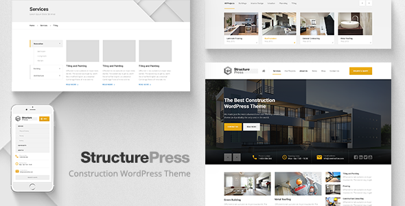 STRUCTUREPRESS V1.11.1 – CONSTRUCTION, BUILDING WP THEME