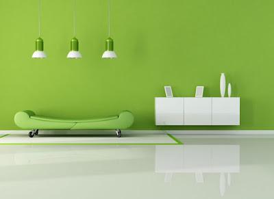 зелёный интерьер