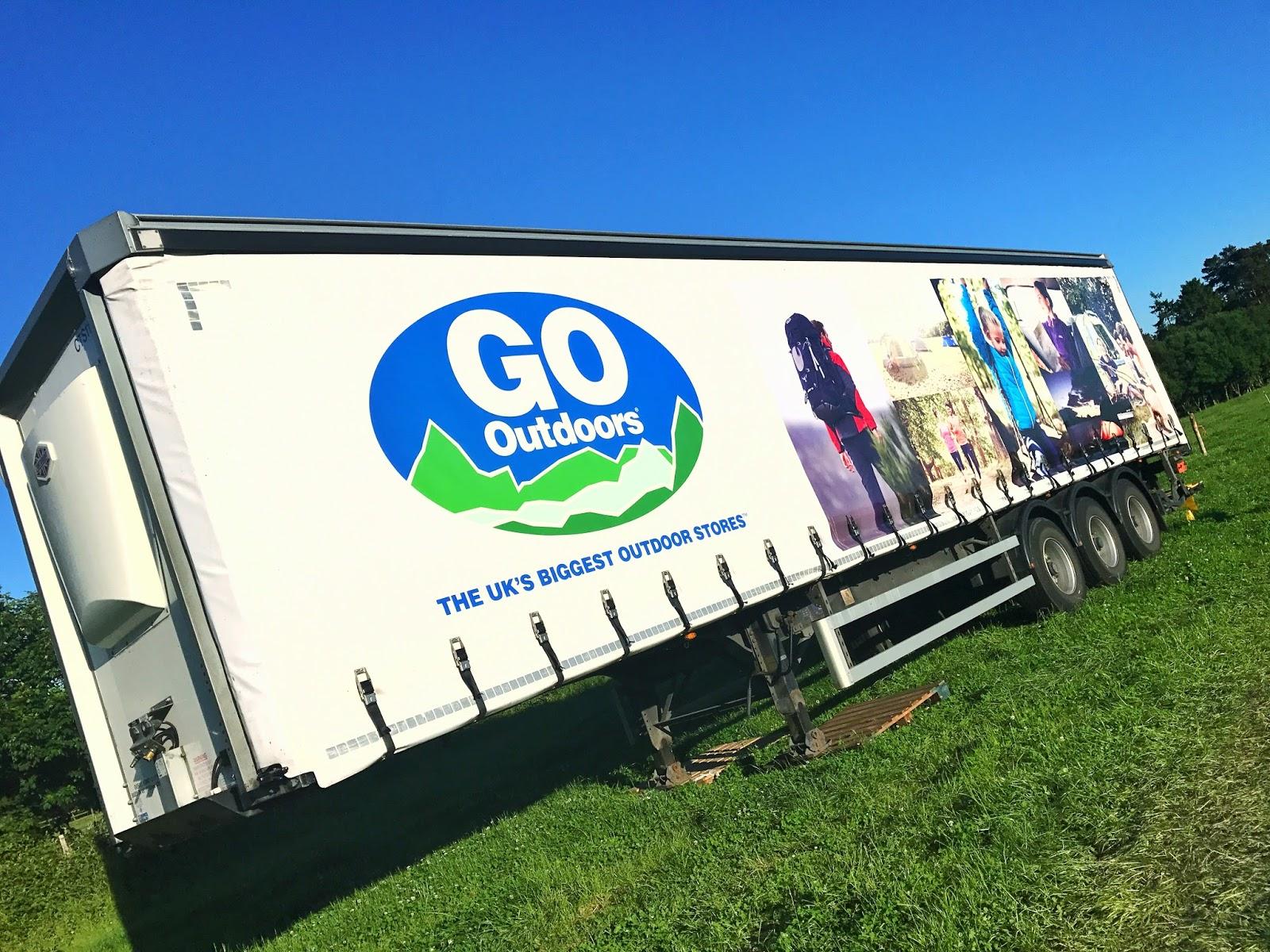 GO Outdoors truck in rural Kent