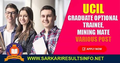 UCIL: Uranium Corporation of India Limited has recently invited an online application form for the optional Graduate, Mining Apprentice, Blaster, Etc.