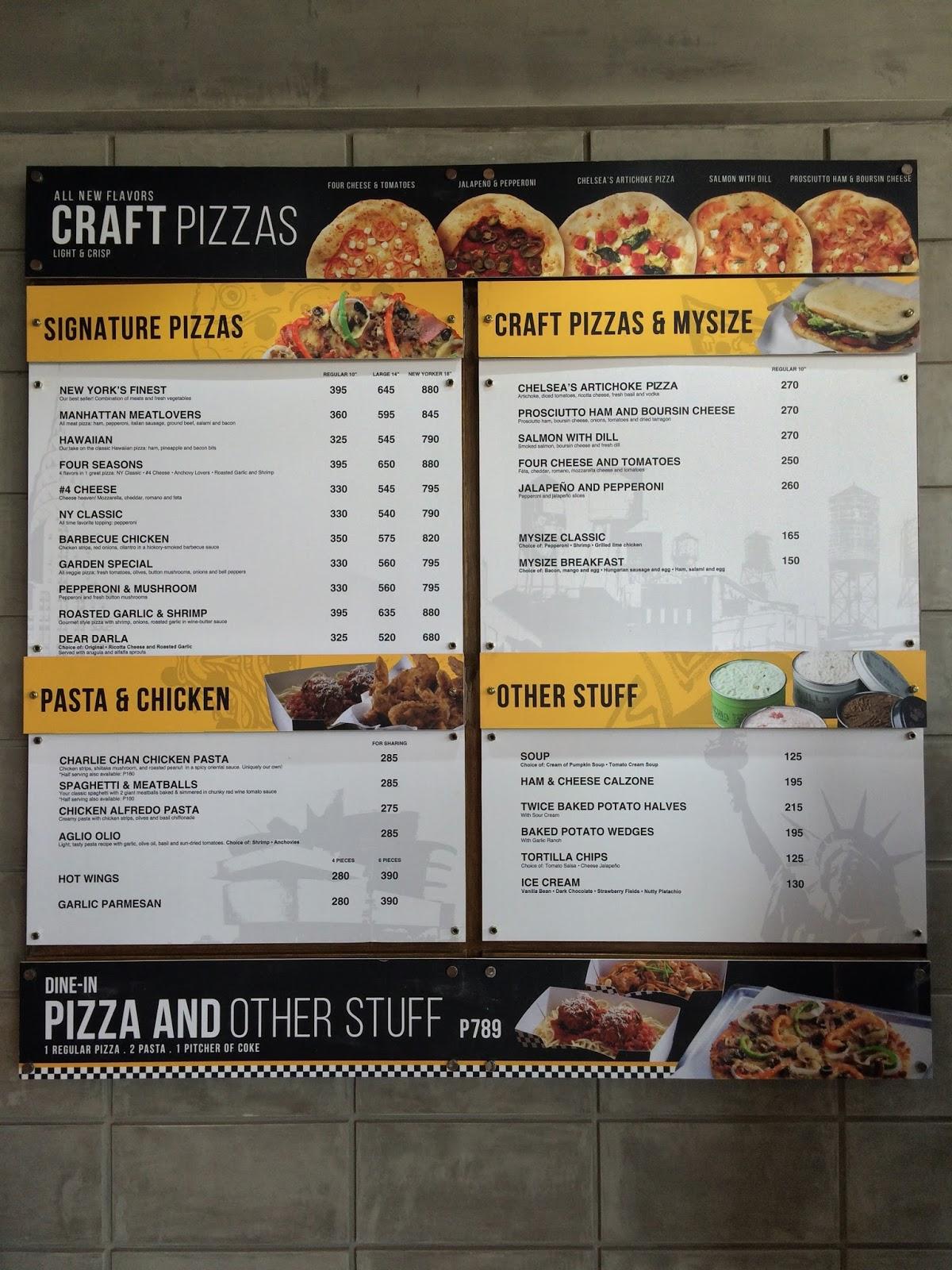 menu - Yellow Restaurant 2015