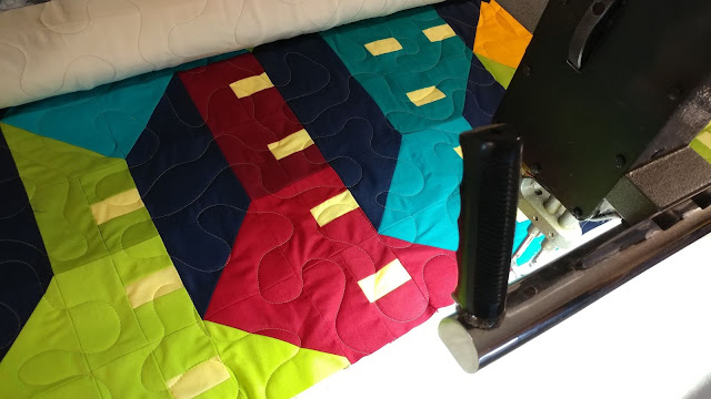 Free motion meander quilting