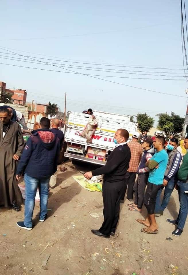 حملة إزالة موسعة بقرية كوم البركه