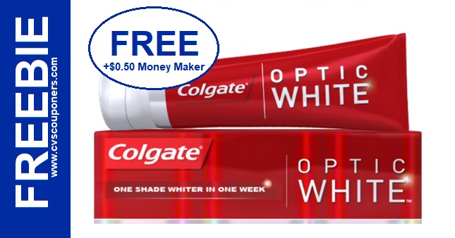 FREE Colgate Optic White Toothpaste at CVS 1124-1130