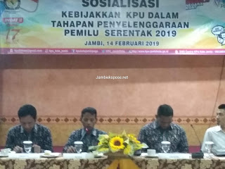Ketua KPU Kota Jambi Buka Secara Resmi Sosialisasi Tahapan Penyelenggaraan Pemilu Serentak 2019.