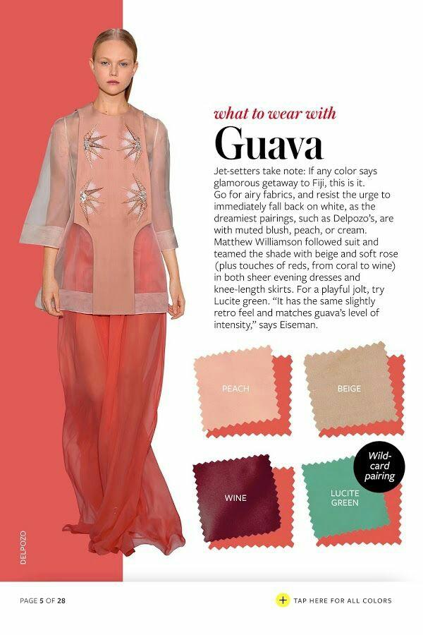 Menarik! Kombinasi warna pakaian untuk warna guava