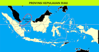 Peta Provinsi Kepulauan Riau