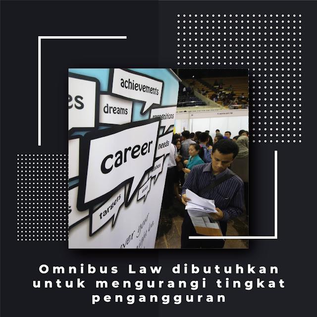 Omnibus Law Di Butuhkan Untuk Mengurangi Tingkat Pengangguran
