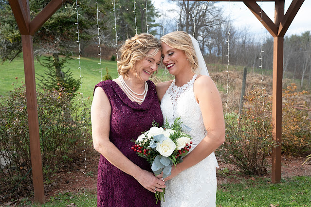 Mother and Bride portrait after ceremony Magnolia Farm Asheville Wedding Photography captured by Houghton Photography