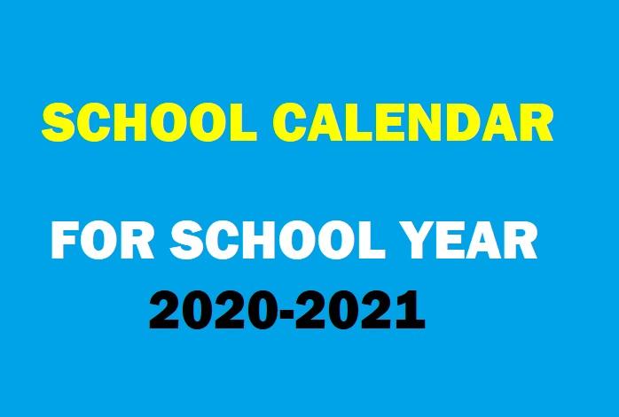 2020 And 2021 School Calendar