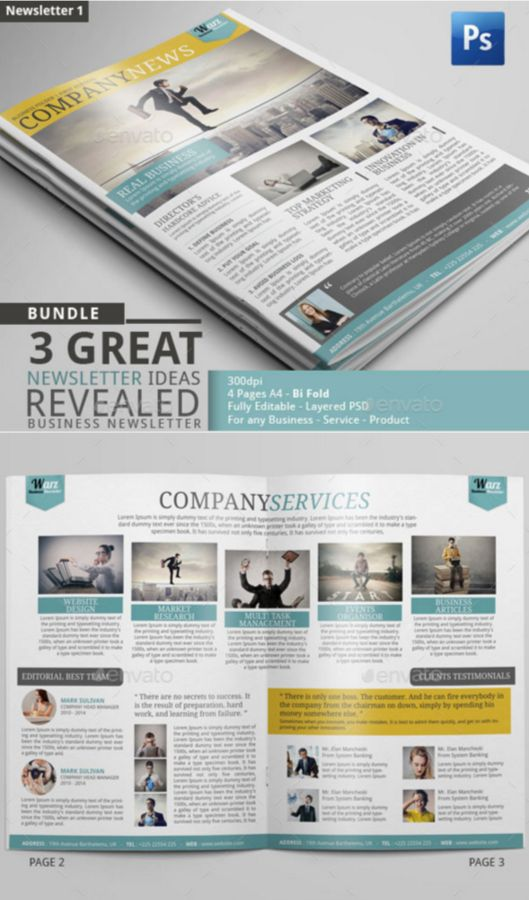 91. Newsletter Bundle PSD