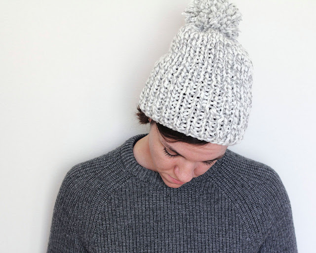 Easy-peasy knit cap tutorial
