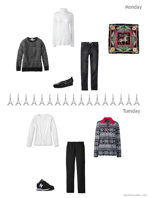outfits for 2 days in Paris