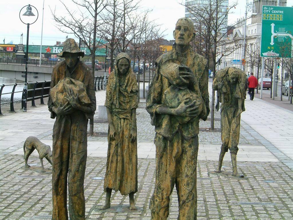 Mémorial de la famine à Dublin