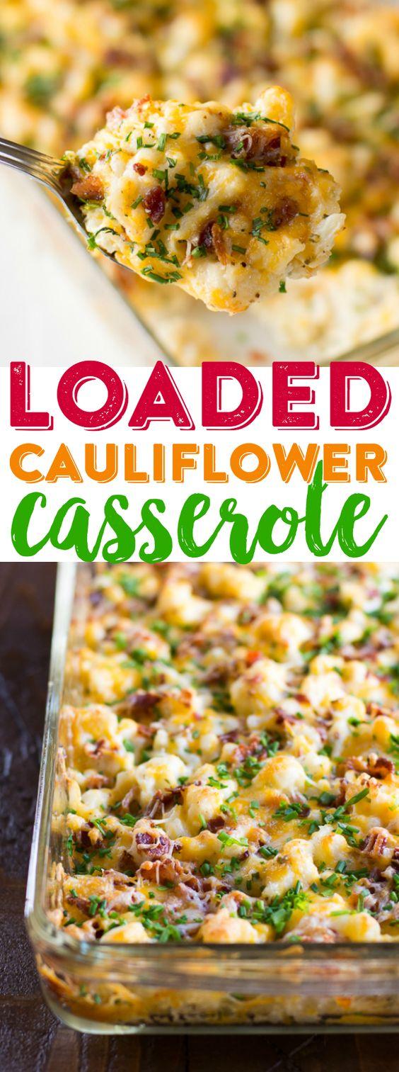 Loaded Cauliflower Casserole Recipe Cucina De Yung