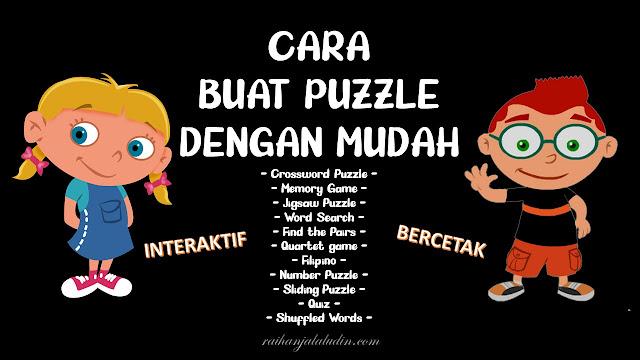 Cara Buat Puzzle Dengan Mudah