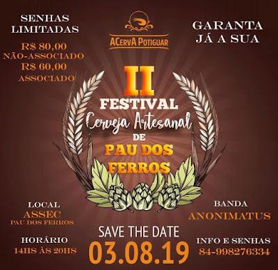 II Festival de Cerveja Artesanal de Pau dos Ferros
